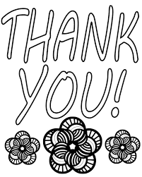 thank you coloring pages coloring page