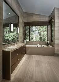 modern bathroom ideas recessed shelving beside bathtub gold copper