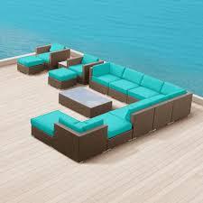 Modern Rattan Furniture Contemporary Rattan Sofa All Wicker Weather Furniture Set U2014 Desjar