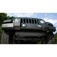 jeep rubicon all black rugged ridge 18003 30 steering component skid plate 07 15 jeep