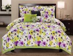 purple yellow and grey bedding ktactical decoration