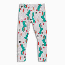 Model Top 100 by Baby Fancy Bunnyprinted Leggings Wholesale Kids Leggings Little