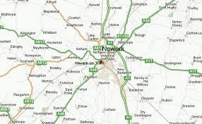 newark map newark on trent location guide