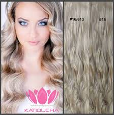 Long Blonde Wavy Hair Extensions by Clip In Hair Extension Loose Curl Wavy Curly Hair 60 Cm 24