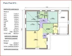 plan maison 3 chambres plain pied garage plan de maison gratuit 4 chambres maison bois b13119t toit plat r1
