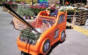 shopping for new tools at the home depot