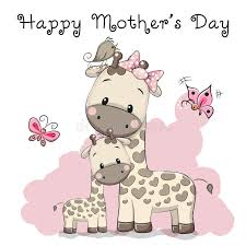 s day giraffe happy mothers day stock vector illustration of childbirth 68317489
