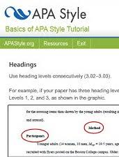 apa research paper formatting style