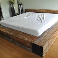 wooden bed platform mr kate diy reclaimed wood platform bed