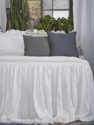 Linen Bed Matteo Ruffle Linen Bedding Matteo Tat Linen Bedding Collection
