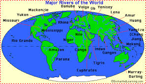 worlds rivers map rivers enchantedlearning
