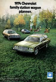 green station wagon 1974 chevrolet family station wagon planner click americana