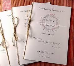 wedding ceremony program paper bulletins for wedding ceremony wedding ceremony program template