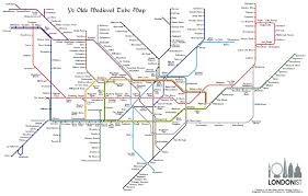 Medieval England Map by The Medieval Tube Map Londonist