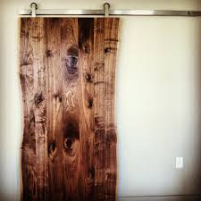 live edge walnut slab door interior barn doors pinterest