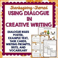 thanksgiving teaching dialogue in creative writing skits task