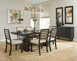 Casual Dining Room Pictures Black Flower High Back Chairs Stunning - Dining room table decorations for summer