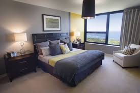blue and black bedroom ideas color blocking in the bedroom ideas inspiration