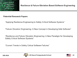 resilience and failure obviation software engineering