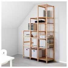wood shelves ikea ivar side unit 12x49