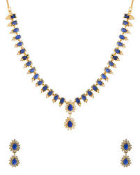 blue stones necklace images Buy designer necklace sets exclusive gold plated necklace set jpg