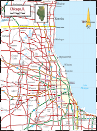 Chicago Toll Roads Map by Chicago Road Maps Chicago Map