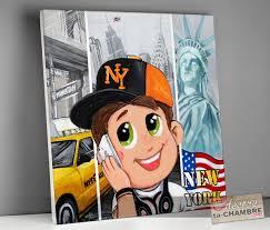 chambre enfant york tableau chambre garcon sur thème york vente tableaux ny déco