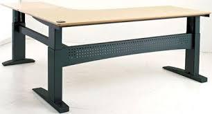 Standing Corner Desk Conset 501 27 L Shaped Standing Desk Electric Adjustable Stand
