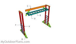 monkey bar plans myoutdoorplans free woodworking plans and
