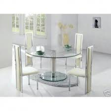 Glass Dining Room Furniture Glass Round Dining Table For 6 Foter