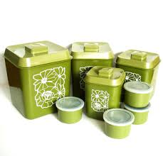 Vintage Kitchen Canister Sets 28 Green Kitchen Canister Set Vintage Tiara Indiana