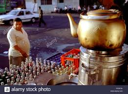 giant drink sale of soft drinks and tea giant teapot downtown amman jordan