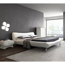 Contemporary Platform Bed Us Pride Furniture B8065 Ek Joyce Synthetic Leather