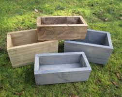 Wooden Centerpiece Boxes wood planter box etsy