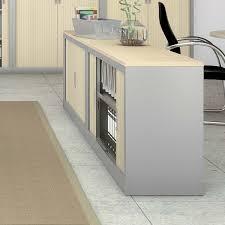armoire à rideau bureau armoire de bureau métallique monobloc à rideaux l 120 x h 70 x p 43 cm