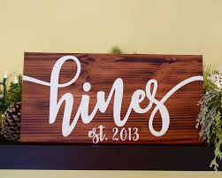 personalized family sign last name sign wood sign canvas