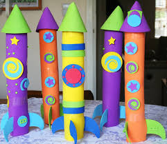 easy to make rocket ships kids rocket crafts pinterest ships