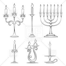 sketch of candlesticks vector clipart image 125670 u2013 rfclipart