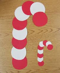 simple candy cane circle craft for preschool christmas