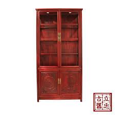 elm wood vitrine display cabinet bookcase chain custom furniture