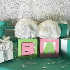 1 baby u0026 co block centerpiece with flowers u2013 slimcrafts