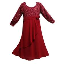 jubah moden kids jubah moden baju kurung for ages 3y to 8y maroon gold