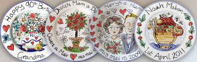 painted platters personalized painted personalised tiles tile murals plates mugs