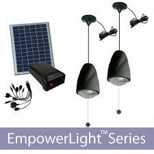 solar lighting and battery charging kit