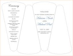 Wedding Bulletin Template 3 Wedding Programs Template Outline Templates