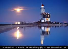 netherlands lighthouse map netherlands moon rise the marken lighthouse o flickr