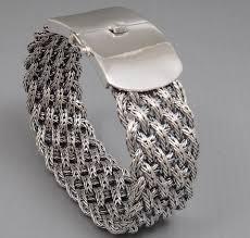 silver woven bracelet images Wide woven braided tribal 925 sterling solid silver mens bracelet JPG
