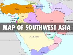 Map Of Asia Blank north africa and southwest asia map best of south west quiz