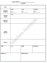 daily lesson plan template 1 www lessonplans4teachers com