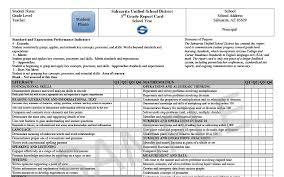 kindergarten progress report template sahuarita unified school district elementary report cards elementary report cards